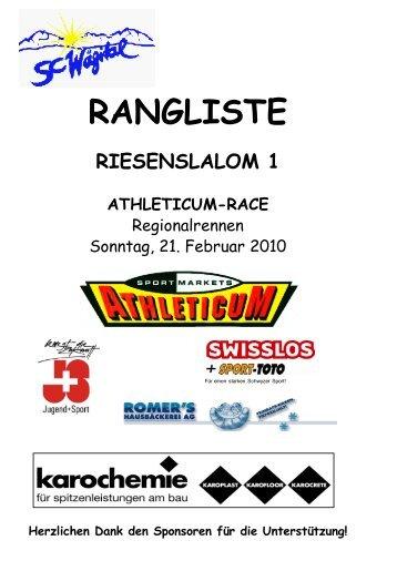 Athleticum-Race RS 1+2 Jun 21/2/2010
