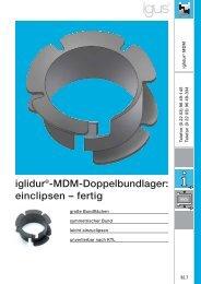 iglidur®-MDM-Doppelbundlager: einclipsen – fertig - Igus