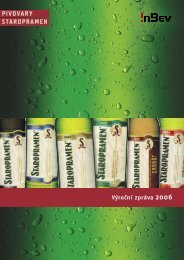 Staropramen – výroční zpráva 2006
