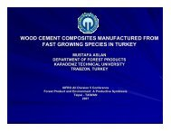 wood cement composites manufactured from fast growing ... - IUFRO