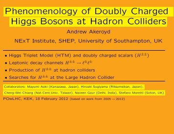 Phenomenology of Doubly Charged Higgs Bosons at the LHC