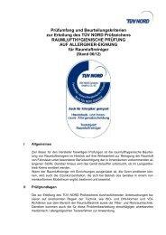 Prüfumfang und Beurteilungskriterien - TÜV NORD Gruppe
