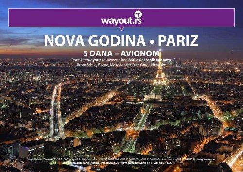 nova godina • pariz 5 dana – avionom - Wayout