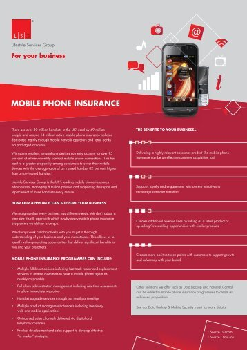 MOBILE PHONE INSURANCE - Lifestyle Services Group Ltd