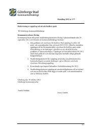 Handling 2012 nr 177 Redovisning av uppdrag att utreda ... - Göteborg