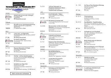 und Wanderplan und Wanderplan 2011 - Schwarzwaldverein OG ...