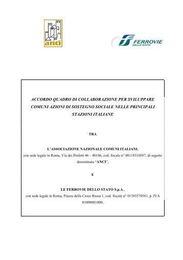 Accordo Quadro ANCI/FS - Ferrovie dello Stato Italiane