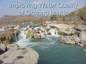 Improving Water Quality of Grazing Lands