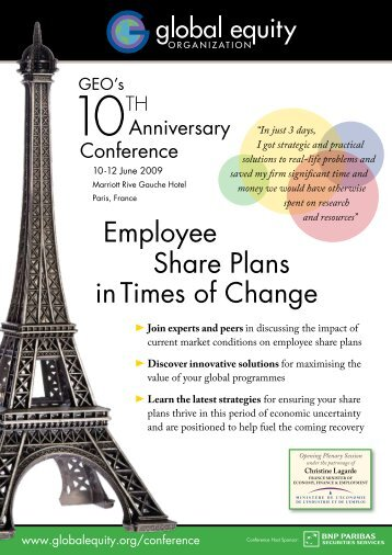 Employee Share Plans inTimes of Change - GEO