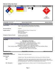 MSDS - Insulation Supplies