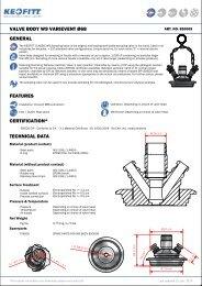 valve body w9 type varivent ø68 general features ... - Keofitt