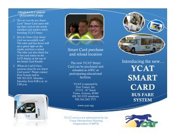 YCAT SMART CARD - Yuma County Area Transit