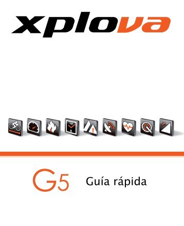 Xplova G5 QG_Spanish