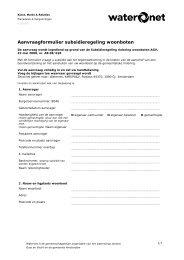 Aanvraagformulier subsidieregeling woonboten - Waternet