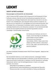 LEICHT ist PEFC-zertifiziert, das heißt, das eingesetzte ... - Leicht.com