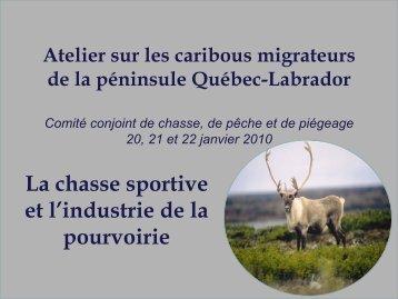 Importance économique du caribou dans le contexte de la chasse ...