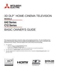 Basic Owner's Guide - Mitsubishi Digital Electronics America