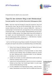 Sicher in den Winterurlaub - Kreisfeuerwehrverband Fritzlar-Homberg