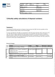 Criticality safety calculations of disposal canisters Summary