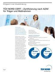 Zertifizierung nach AZAV für Träger und Maßnahmen