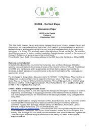 the Next Steps Discussion Paper - Council for the Humanities, Arts ...