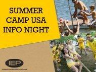 Summer Camp USA - IEP
