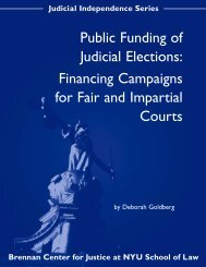Public Funding of Judicial Elections: Financing Campaigns for