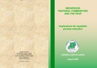 INDIGENOUS PASTORAL COMMUNITIES AND THE PEAP ...