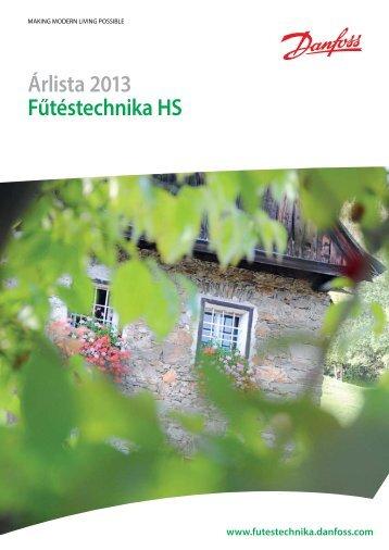 Árlista 2013 Fűtéstechnika HS