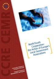 North-South Cooperation - Council of European Municipalities and ...