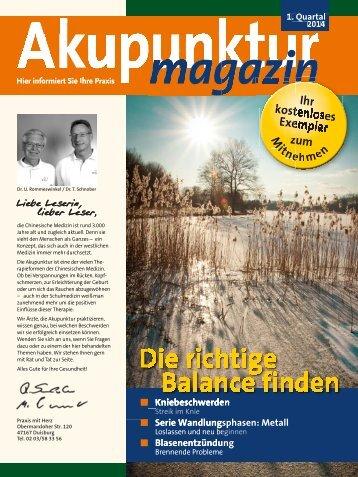 Ausgabe 1. Quartal 2014 - Praxis mit Herz