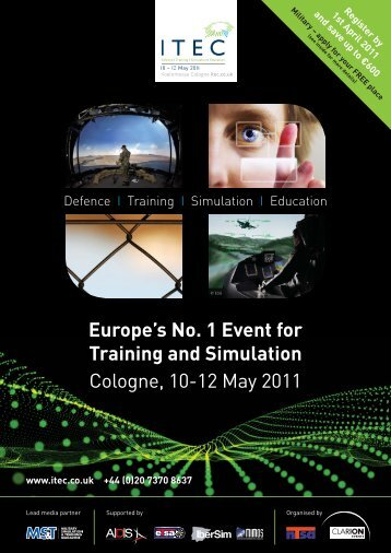 Europe's No. 1 Event for Training and Simulation Cologne, 10-12 ...