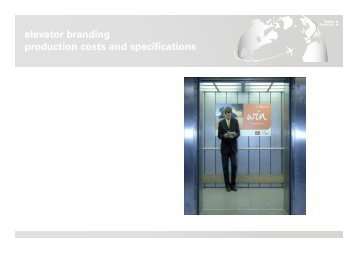 elevator branding production costs and specifications