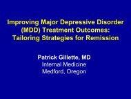 Improving Major Depressive Disorder (MDD) Treatment Outcomes ...