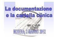 la cartella clinica in medicina generale (pdf - 354 KB) - Ordine ...
