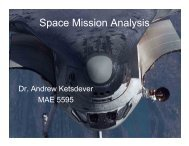 Space Mission Analysis