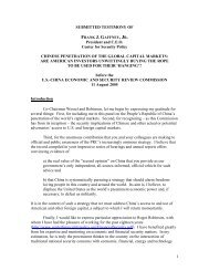 1 SUBMITTED TESTIMONY OF President and C.E.O. Center for ...