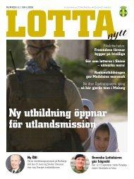 ny utbildning öppnar för utlandsmission - Svenska Lottakåren