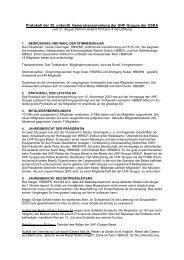 Protokoll 35. GV / 2004 - UHF-Gruppe der USKA