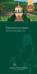 Veranstaltungskalender - Schloss Wackerbarth