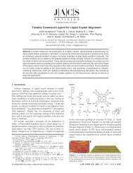 Tunable Command Layers for Liquid Crystal Alignment - Cluster for ...