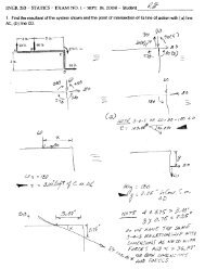 ENGR 210 - STATICS - EXAM NO. 1 — SEPT. 19. 2008 - Student gg ...