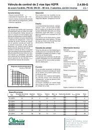 Válvula de control de 2 vías tipo H2FR de acero ... - Clorius Controls