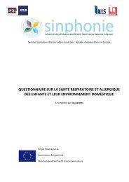 questionnaire sur la santé respiratoire et allergique des enfants et ...