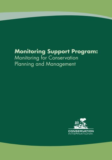 Monitoring Support Program Brochure - Library - Conservation ...