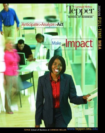 Make Anticipate>Analyze>Act - Carnegie Mellon University