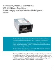 HP M8607A, M8608A, and M8610A LTO 4 FC Library Tape Drives ...