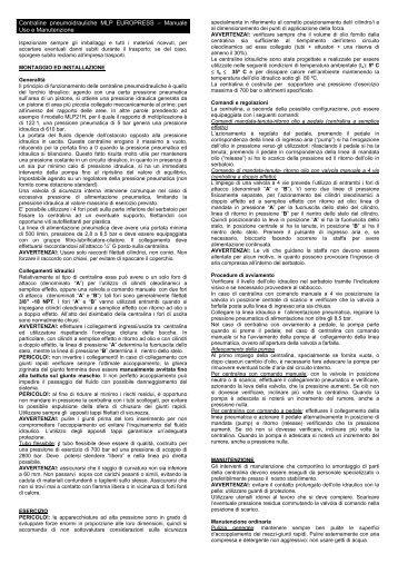 Centraline pneumoidrauliche MLP EUROPRESS ... - Euro Press Pack