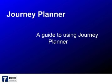 How to use the Journey Planner