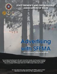 Advertising with SFFMA - State Firemen's & Fire Marshals'